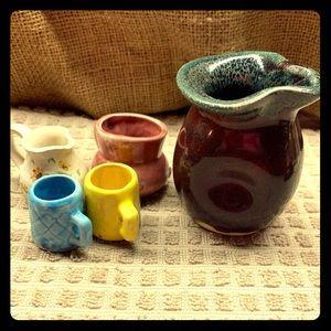 Vintage Handmade Mini Pottery Set